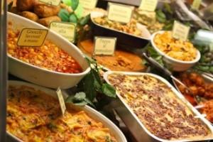Jídlo na trhu Mercato Centrale